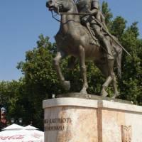 Skopje - socha Skanderbega