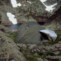 bivak u jezera Fourcat (sever Andorry)