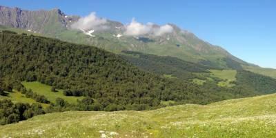Kavkaz, pohled na Archyzské sedlo