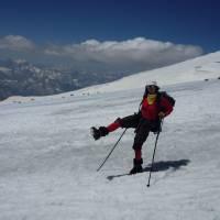 Kavkaz, Janča se raduje po úspěšném výstupu na Elbrus