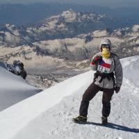 Kavkaz, vrcholovka z Elbrusu (5642m), Janča