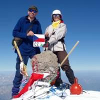 Kavkaz, vrcholovka z Elbrusu (5642m), Janča a Pavouk