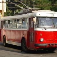Krym, Alušta - trolejbus škosa