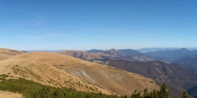 Panoráma - pohled z Križné na sever