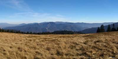 Panoráma - pohled na Nízké Tatry