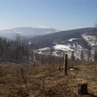 Pohled ze sedla Gluchacky na Pilsko