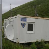 Opuštěná hraniční budka na makedonsko-kosovské hranici.