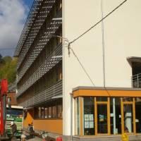 Budova Mundo, kde sídlí Institut Eco-Conseil, kde jsem byli na stáži