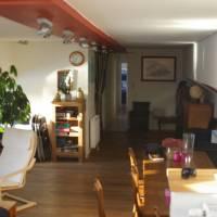 Interiér lodi, kde jsme bydleli