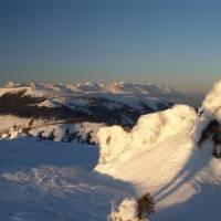 Západ slunce s Vysokými Tatrami