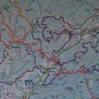 Mapa běžeckých cest kolem Paprsku