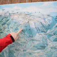Mapa Raxu v Hirschwangu, začátek putování, pátek ráno