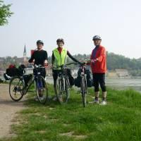 Na soutoku Enže a Dunaje - náš skoro začátek cesty proti proudu