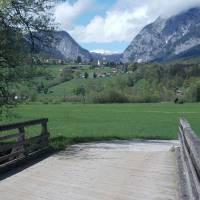 Alpy z mostu přes Enži