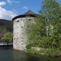 Historické městečko Radstadt; městské opevnění