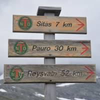 Norské rozcestí u jezera Kjarda
