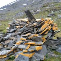 Hranice norsko-švedská; kámen nese letoočet 1763