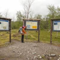 Hranice třech národních parků: Padjelanta, Störa Sjeffelet a Sarek.