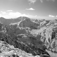 Pohoří Trnovčki Durmitor a Trnovačko jezero z Crnohorského Magliće