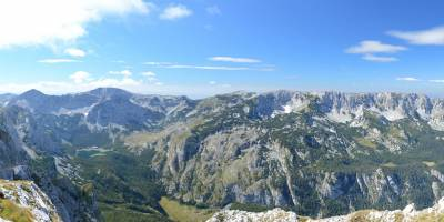 Pohoří Trnovčki Durmitor, Trnovačko jezero a Volujak z Crnohorského Magliće