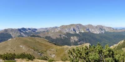 Zelengora - pohled na nejvyšší partie pohoří (uprostřed nejvyšší hora Bregoč)