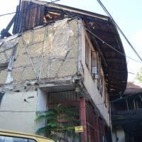 Sarajevo: náš hostel, přední část spíše ruina