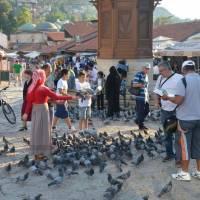 Sarajevo: úplný střed města Baščaršija