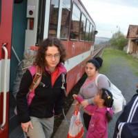Hodejov, začátek cesty po noční cestě přes Bratislavu, busem do Rimavské Soboty a vlakem Hodejova