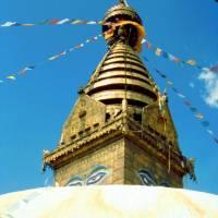 Swayabbhunath - známá káthmándská buddhistická stupa