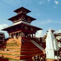 Centrum Káthmándú - náměstí Durbar