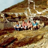 V sedle Lamjur La, 350 m (Ježek, Jirka, Ruda a Pavouk)