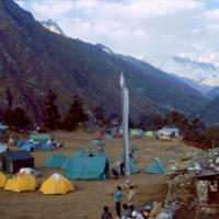 Tábor u klášter Thyangboche (Tengboche)