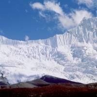 Ledovcový val pod Ama Dablam