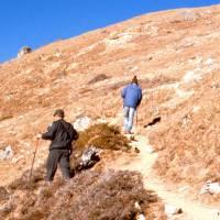 Výstup na Gokyp Peak, nejvyšší bod našeho putování (Jirka a Ruda)