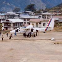 Vesnice Lukla, letiště