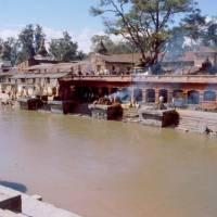 Káthmándú, Pašupatináth, pohřební hranice