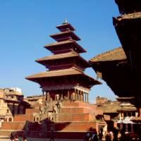 Bhaktapur (jedno z měst káthmánského údolí), centrální stupa
