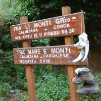 Začátek treku přes celou Korziku po cestě GR20 (Calenzana)