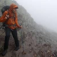 Za deště na skalách