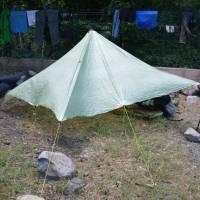 Vizzavona, kemp, přehlídka ultralehkého ubytování
