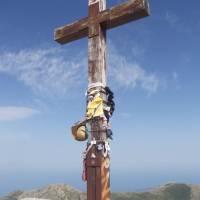Na vrcholu Monte Incudine, 2134 m n.m., nejvyšší hora jižní Korsiky