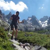 Sestup z Monte Cinto