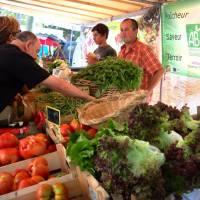 Největší korsické město Bastia, biozelenina v rámci normálního, asi každenního trhu v centru města