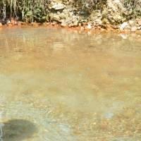 Kalameny - termální jezírko; podvodné vyvěračka