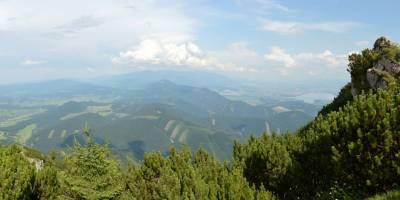 Z Veľkého Choče pohled na Tatry