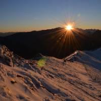 Západ slunce na Kasprově vrchu