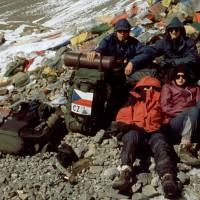 Sedlo Thorong La (5416 m): Pavouk, Jirka, Maťa, Terka