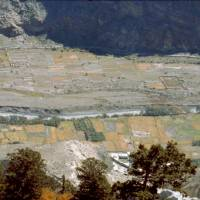 Pohled na políčka u Kali Gandaki