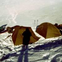 Naše stany ráno v 5100 m.