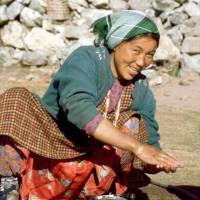 Langtang: naše paní domácí, u které jsme byli ubytováni